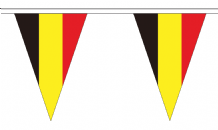 Belgium Triangular Flag Bunting - 20m Long - 54 Flags